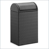 ZUO Gandia Outdoor Synthetic Weave Rubbish Bin in Espresso