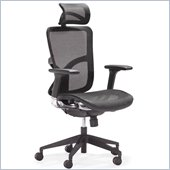 ZUO Harlean Modern Mesh High Back Office Chair in Black