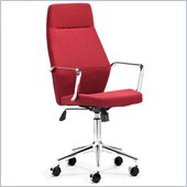 ZUO Holt Modern Fabric Molded Foam High Back Office Chair in Red
