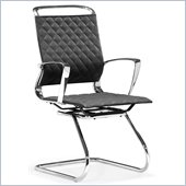 ZUO Jackson Modern Leatherette Conference Chair in Black