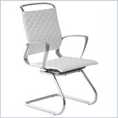 ZUO Jackson Modern Leatherette Conference Chair in White