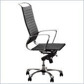 ZUO Jackson Modern Leatherette High Back Office Chair in Black
