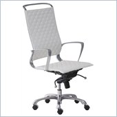ZUO Jackson Modern Leatherette High Back Office Chair in White