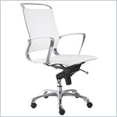 ZUO Jackson Modern Leatherette Office Chair in White