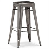 ZUO Marius Modern Gunmetal Bar Chair in Gunmetal