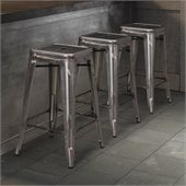 ZUO Marius Modern Gunmetal Counter Chair in Gunmetal