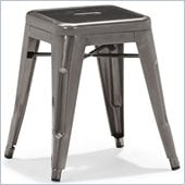 ZUO Marius Modern Gunmetal Stool in Gunmetal
