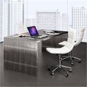 ZUO Novel Modern Dining Table in Stainless Steel