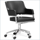 ZUO Performance Modern Leatherette Molded Foam Office Chair in Black