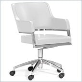 ZUO Performance Modern Leatherette Molded Foam Office Chair in White