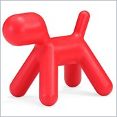 ZUO Pup Modern Kids Plastic Chair in Red