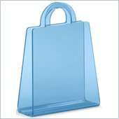 ZUO Purse Modern Acrylic Magazine Rack in Transparent Blue