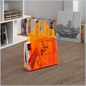 ZUO Purse Modern Acrylic Magazine Rack in Transparent Orange