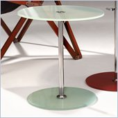 ZUO Radical Modern Tempered Glass Side Table in Frosted Glass