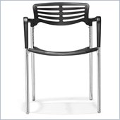 ZUO Scope Modern Plastic Dining Chair in Black
