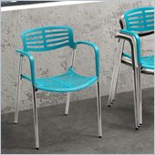 ZUO Scope Modern Plastic Dining Chair in Blue
