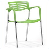 ZUO Scope Modern Plastic Dining Chair in Green