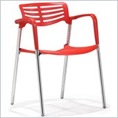 ZUO Scope Modern Plastic Dining Chair in Red