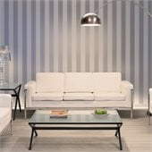 ZUO Singular Modern Leatherette Sofa in White