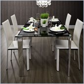 ZUO Slim Modern Painted Glass Dining Table in Espresso