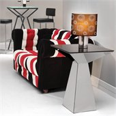 ZUO Tyrell Modern Painted Glass Coffee Table in Black