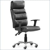 ZUO Unity Modern Leatherette Office Chair in Black