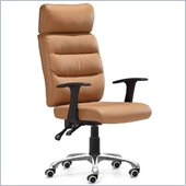 ZUO Unity Modern Leatherette Office Chair in Clay