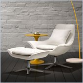 ZUO Vital Modern Leatherette Molded Foam Lounge Chair in White