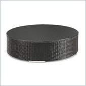 ZUO Waikiki Outdoor Synthetic Weave Coffee Table in Espresso