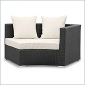 ZUO Waikiki Outdoor Synthetic Weave Corner Left in Espresso