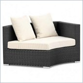 ZUO Waikiki Outdoor Synthetic Weave Corner Right in Espresso