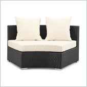 ZUO Waikiki Outdoor Synthetic Weave Middle in Espresso