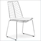 ZUO Wendover Modern Dining Chair in Chrome