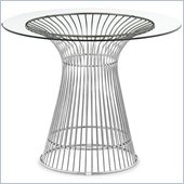 ZUO Whitby Modern Glass Dining Table in Stainless Steel