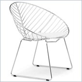 ZUO Whitworth Modern Dining Chair in Chrome