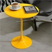 ZUO Wilco Modern Painted Wood Side Table in Yellow