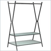 ZUO Xert Modern Frosted Glass Coat Shelf in Gray