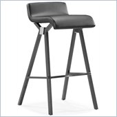 ZUO Xert Modern Leatherette Bar Chair in Gray