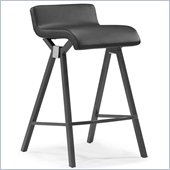 ZUO Xert Modern Leatherette Counter Chair in Gray