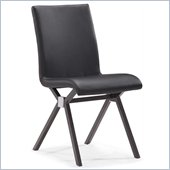 ZUO Xert Modern Leatherette Dining Chair in Gray