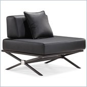ZUO Xert Modern Leatherette Fabric Modular Chair in Black