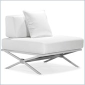 ZUO Xert Modern Leatherette Fabric Modular Chair in White