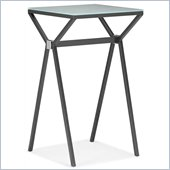 ZUO Xert Modern Painted Glass Bar Table in Gray