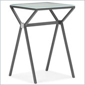ZUO Xert Modern Painted Glass Counter Table in Gray