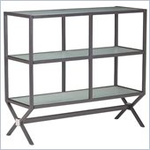 ZUO Xert Modern Tempered Glass Buffet Console in Gray