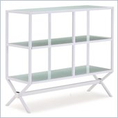 ZUO Xert Modern Tempered Glass Buffet Console in White