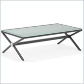 ZUO Xert Modern Tempered Glass Coffee Table in Gray