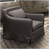 Zuo Pacific Heights Armchair in Charcoal Gray