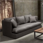Zuo Pacific Heights Sofa in Charcoal Gray