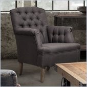 Zuo Castro Armchair in Charcoal Gray